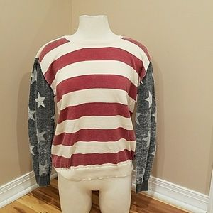 FOREVER 21 STARS AND STRIPES SWEATER!